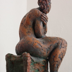 """Sculpture -Terre cuite- Rosa -2008 • <a style=""""font-size:0.8em;"""" href=""""http://www.flickr.com/photos/34962229@N07/3244893890/"""" target=""""_blank"""">View on Flickr</a>"""